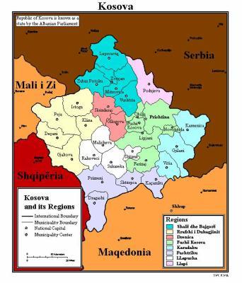 harta e kosoves - united stat of albania (USA)